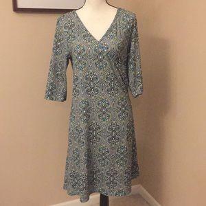 Prana surplice 3/4 sleeve dress, Size XL
